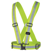 Hi-Vis Adjustable Safety Sash - Tear-away - CSA Pioneer - 5592 - Yellow/Green