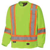 Hi-Vis 100% Cotton Long-Sleeve Shirt - CSA, Class 1 - Pioneer - 6982 Yellow