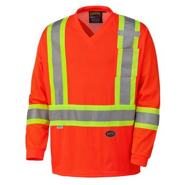 Hi-Vis Quick-Dry Long Sleeve Safety Shirt - CSA, Class 2 - Pioneer - 6984
