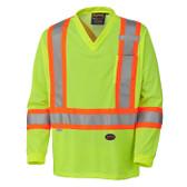 Hi-Vis Quick-Dry Long Sleeve Safety Shirt - CSA, Class 2 - Pioneer - 6985