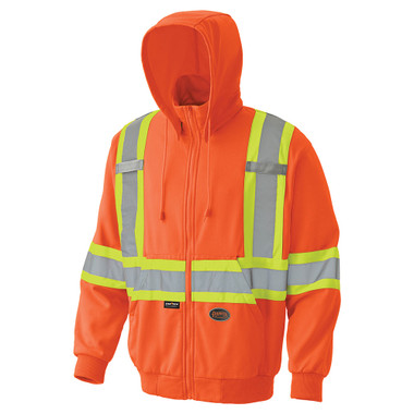 Hi-Vis Micro Fleece Zip-Up Safety Hoodie - CSA, Class 2 - Pioneer - 6940
