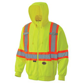 Hi-Vis Micro Fleece Zip-Up Safety Hoodie - CSA, Class 2 - Pioneer - 6941