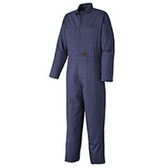 100% COTTON HEAVY-DUTY COVERALL WITH BUTTONS - SUITABLE FOR INDUSTRIAL WASH - NAVY