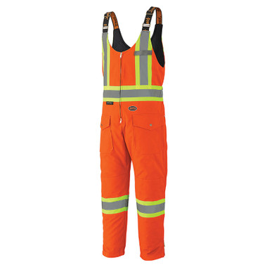 Hi-Vis Winter Quilted Safety Overall - CSA, Class 1 - Pioneer - Orange 5538