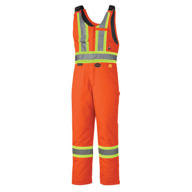 FR Hi-Vis Winter Quilted Safety Overall - FR, CSA - Pioneer - ORANGE 5534A