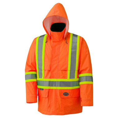 Hi-Vis Lightweight Waterproof Safety Jacket CSA, Class 2 Pioneer ORANGE 5594