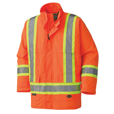 Hi-Vis Waterproof Nailhead Safety Jacket |CSA, Class 2 Pioneer D8125OJ ORANGE
