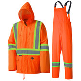 Hi-Vis Lightweight 2-Piece Rain Suit - CSA, Class 1 - Pioneer - Hi-Vis Orange 5598
