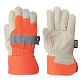 Hi-Vis Cowgrain Fitter's Safety Glove Startech Pioneer ORANGE 536HVO
