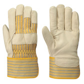 Extra Large Fitter's Cowgrain Striped Safety Glove -12 Pkg| Pioneer - 537XL