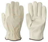Driver's Unlined Cowgrain Safety Glove - 12 Pkg - Pioneer - 535
