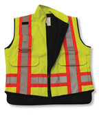 Lime Green Poly/Cotton Supervisor Safety Vest