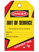 DANGER – OUT OF SERVICE TAG - LOCKOUT
