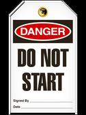 Danger DO NOTSTART Safety Tag - 25 Pkg - Incom - TG1005