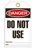 Danger DO NOTUSE Safety Tag - 25 Pkg - Incom - TG1001