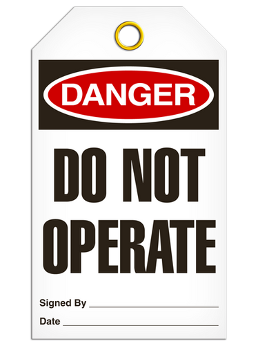 Danger DO NOT OPERATE Safety Tag - 25 Pkg - Incom - TG1000