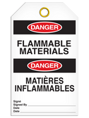 BILINGUAL DANGER – FLAMMABLE MATERIALS TAG