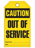 CAUTION - OUT OF SERVICE