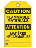 BILINGUAL CAUTION – FLAMMABLE MATERIALS