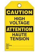 BILINGUAL CAUTION – HIGH VOLTAGE