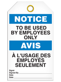 BILINGUAL NOTICE – TO BE USED BY EMPLOYEES ONLY