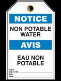 BILINGUAL NOTICE – NON POTABLE WATER