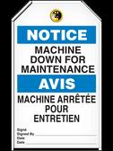 BILINGUAL NOTICE – MACHINE DOWN FOR MAINTENANCE