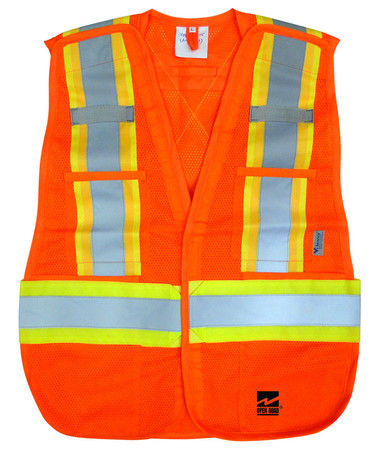 Hi-Vis 5-Point Tear-Away Safety Vest - 2 Pkg - Viking - 6115O