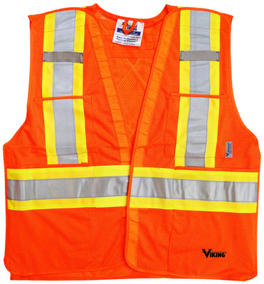 Hi-Vis 5-Point Tear-Away Safety Vest CSA, Class 2 Viking 6125G Yellow