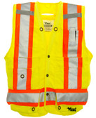 Deluxe Poly Surveyor Safety Vest - CSA, Class 2 - Viking - 6195G