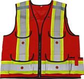 Premium 1000D Surveyor Safety Vest - CSA, Class 1 - Viking - 4915R