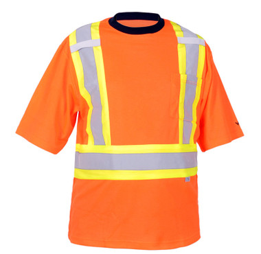 Hi-Vis Cotton-Lined Safety T-Shirt - CSA, Class 2 - Viking 6000O