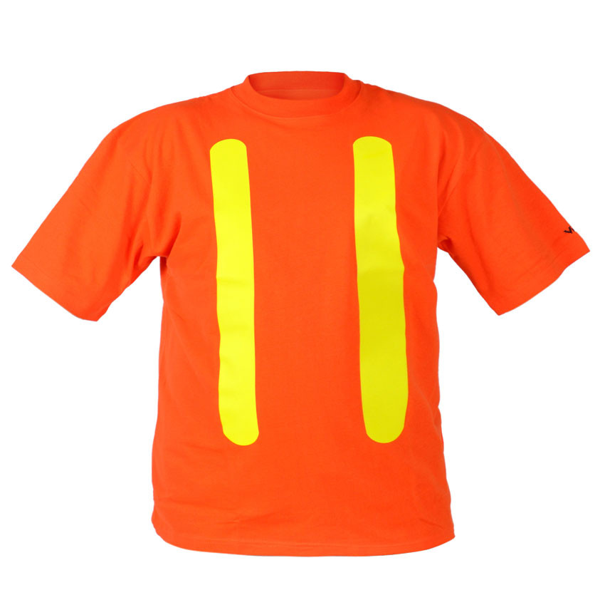 Hi vis 100 cotton safety t shirt osha safety supplies for Hi vis t shirts cotton