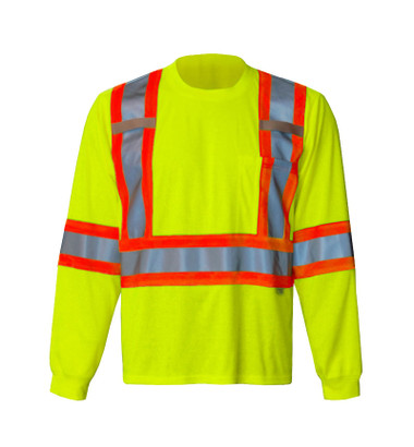 Hi-Vis Long Sleeve Safety Shirt - CSA, Class 2 - Viking 6010G
