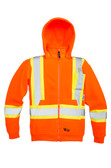 Hi-Vis Anti-Pill Poly Fleece Safety Hoodie - CSA, Class 1 & 2 - Viking - 6420JO