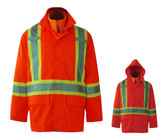 Hi-Vis Tri-Zone 3-in-1 Waterproof Safety Jacket -CSA, Class 2 -Viking 6400JO + 6330HO