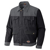 *CLEARANCE* EuroWear™ Work Jacket- Poly/ Cotton- Black