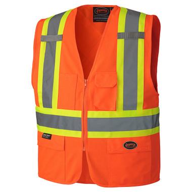Hi-Vis Safety Vest w/ Front Zipper - CSA, Class 2 - 156 Pioneer