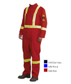 Hi-Vis Fire Resistant Westex® Safety Coverall - FR, CSA - Firewall 40677-5000 RED