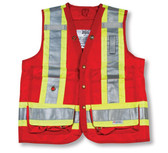 Hi-Vis Polyester Surveyor Safety Vest  CSA, Class 2 - Big K - BK402
