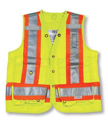 Hi-Vis Polyester Surveyor Safety Vest - CSA, Class 2 - Big K - BK402_LIME