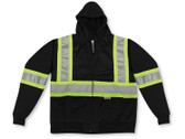 Hi-Vis 100% Poly Zip-Up Safety Hoodie - CSA, Class 2 - Big K - 3554 Black