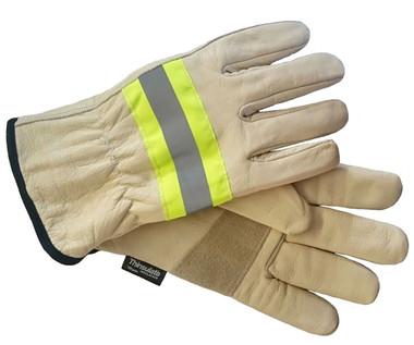 Hi-Vis Ladies Goatskin Insulated Glove - Thinsulate - SSC1111 - Beige