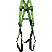 Hi-Vis Full Body Contractor Harness - 1D, Class A -  PeakWorks - Hi-Vis Green