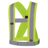 Adjustable Hi-Vis Premium Elastic Safety Sash - CSA - Pioneer Startech - 5492
