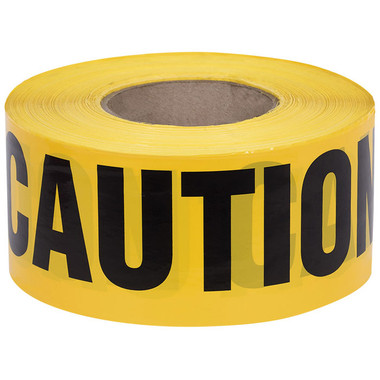 CAUTION Warning Barricade Tape - 200 Ft - Pioneer - 386