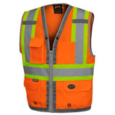 Hi-Vis Mesh Back Zip Surveyor Safety Vest CSA, Class 2 Pioneer 6672