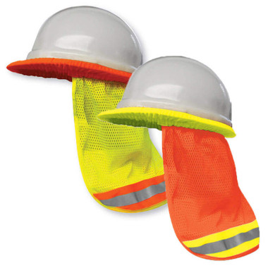 Hi-Vis Mesh Sun Shade for Hard Hats 2 Pkg Big K BK-HHSUNSHADE-ORG
