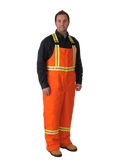 Viking Firewall FR Striped Insulated Overalls Orange