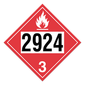 Flammable Liquid, Corrosive | Class 3 Placard